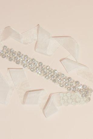 Crystal Halos Illusion Sash with Organza Ties