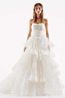 Long Ballgown Modern Wedding Dress - White by Vera Wang