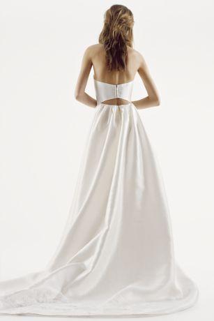 white  vera wang strapless mikado wedding dress davids bridal