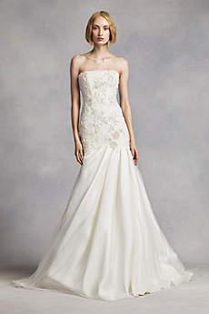 Long Mermaid/ Trumpet Modern Wedding Dress - White by Vera Wang