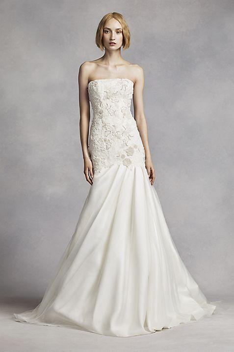 White by Vera Wang Lace Mermaid Wedding Dress | David\'s Bridal