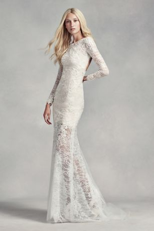 White By Vera Wang Lace And Beads Wedding Dress David S