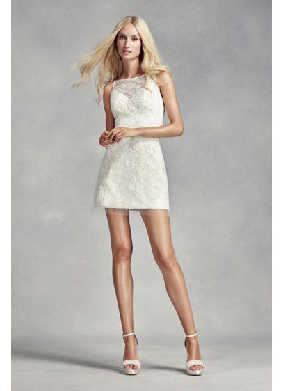 White by Vera Wang Short Lace Wedding Dress | David\'s Bridal