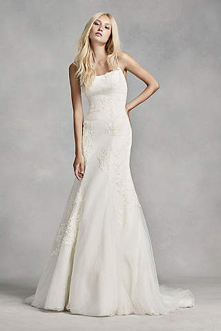 Shop discount wedding dresses wedding dress sale davids bridal white by vera wang low back wedding dress junglespirit Gallery