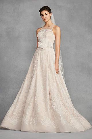 Long A Line Vintage Wedding Dress White By Vera