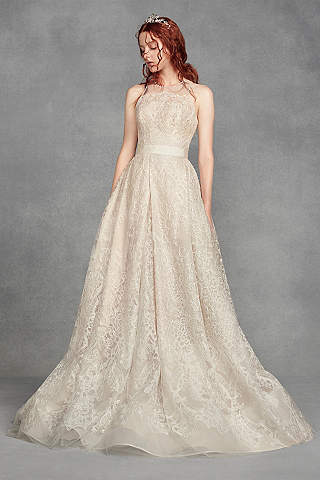 Long A Line Vintage Wedding Dress