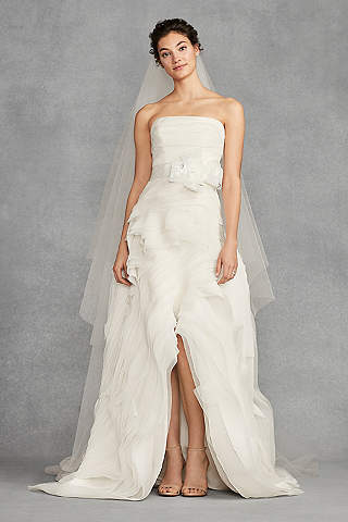 High Low A Line Beach Wedding Dress White By Vera
