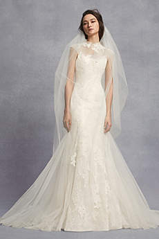 Long Mermaid/ Trumpet Modern Wedding Dress - White by Vera Wang