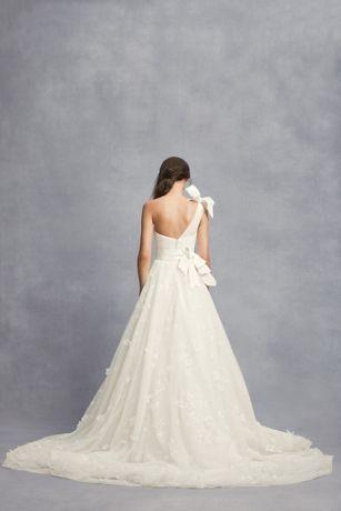 Layered Tulle One-Shoulder A-Line Wedding Dress | David's Bridal