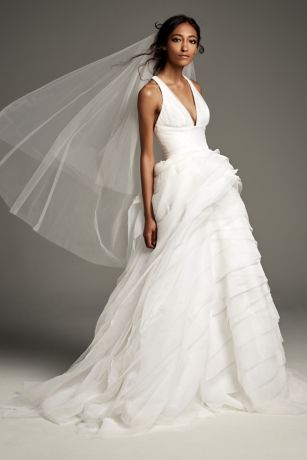 Long A-Line Wedding Dress - White by Vera Wang 2aec379c75e9
