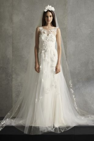 Long A-Line Wedding Dress - White by Vera Wang