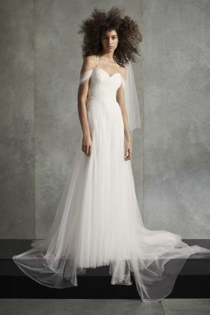 White by Vera Wang Soft Net Halter Wedding Dress