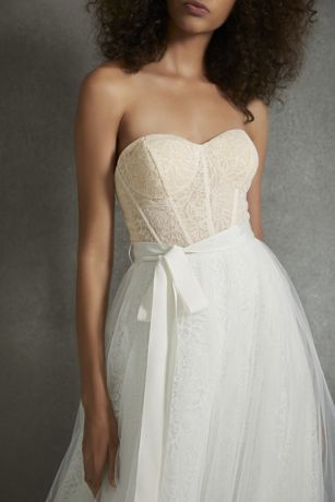 whitevera wang dutch lace corset wedding dress  david