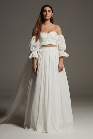 Long Separates Wedding Dress - White by Vera Wang