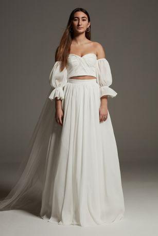 Long Separates Wedding Dress - White by Vera Wang