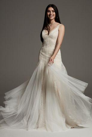 Long Sheath Wedding Dress - White by Vera Wang