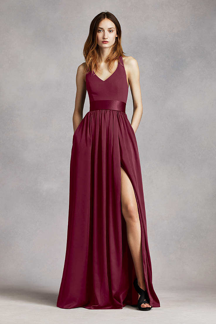 9d86a581a516 Long Bridesmaid Dresses You'll Love | David's Bridal