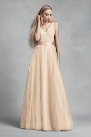 Long Sheath Tank Dress - White by Vera Wang