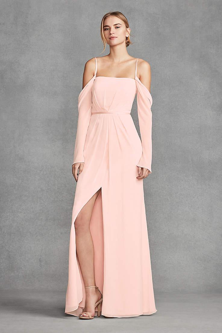 36d017c2faac Soft & Flowy White by Vera Wang Long Bridesmaid Dress
