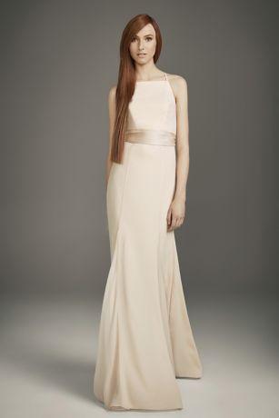 b6d96972a3 Soft   Flowy White by Vera Wang Long Bridesmaid Dress