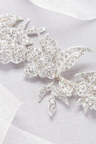 pave crystal floral garland sash davids bridal