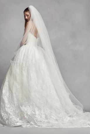 Two-Tier Cathedral Veil with Lace Appliques | David's Bridal