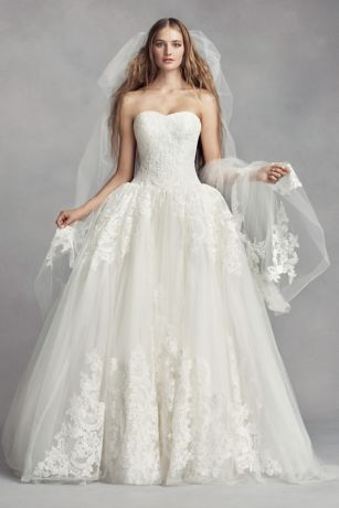 Tulle Cathedral Veil with Arched Lace Appliques