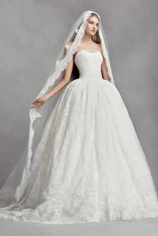 Lace Appliqued Mantilla-Style Cathedral Veil
