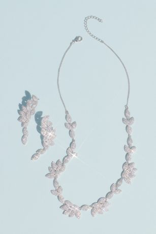White by Vera Wang Haloed Crystal Leaves Set