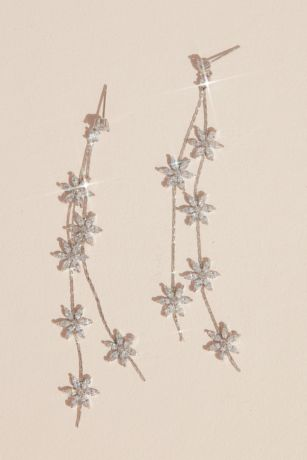 White by Vera Wang Flower Garland Drop Earrings