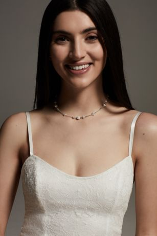 White by Vera Wang Crystal Backdrop Necklace