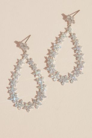 White by Vera Wang Flower Teardrop Earrings