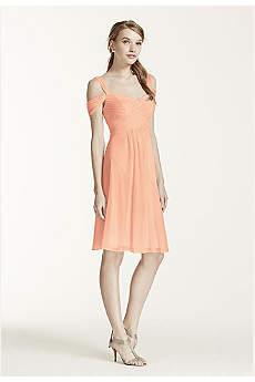 Short Mesh Dress with Split Sleeves