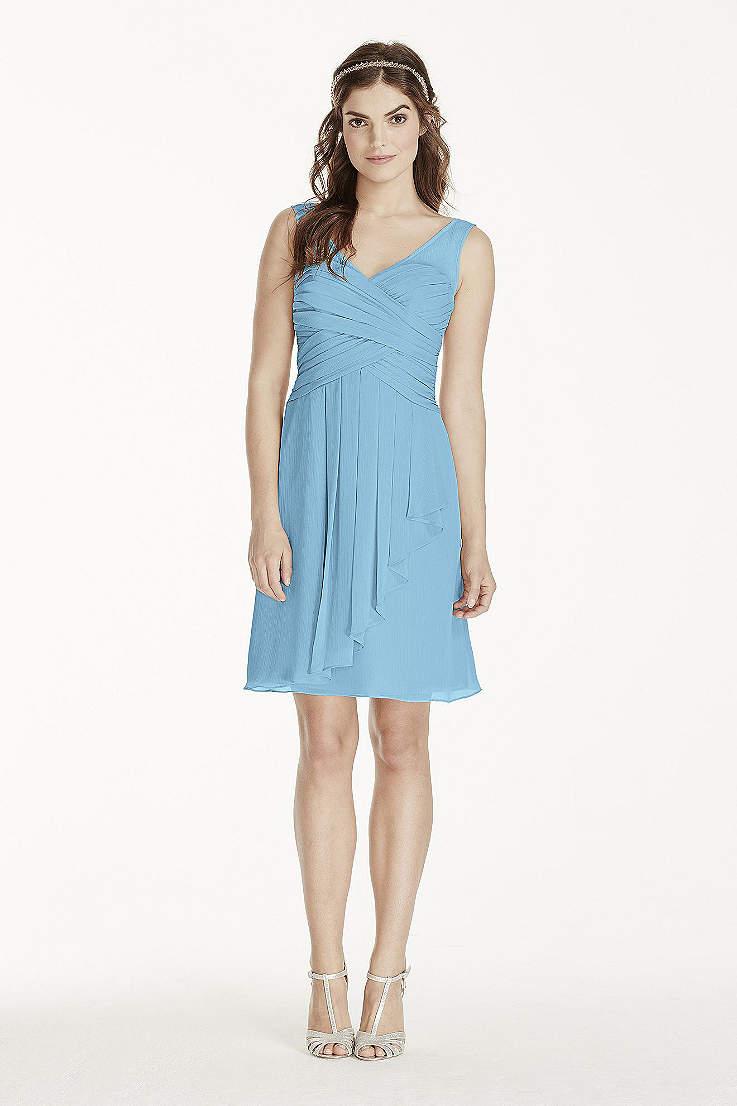 Soft Flowy David S Bridal Short Bridesmaid Dress