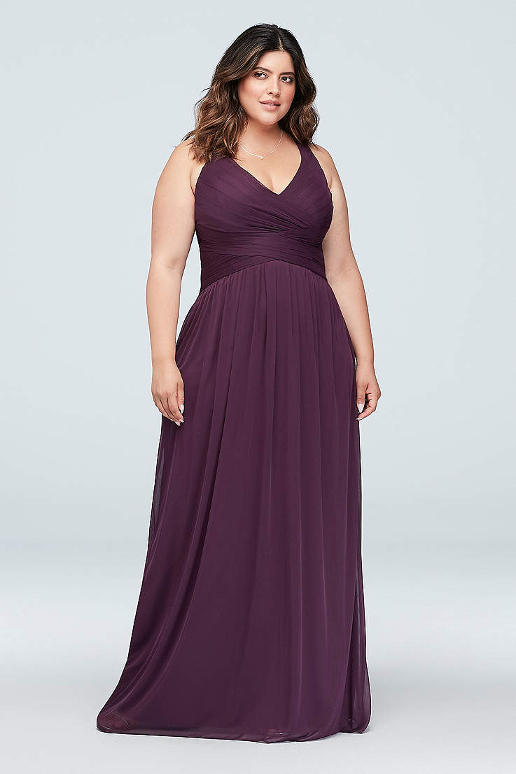 Plus Size Short Purple Bridesmaid Dresses