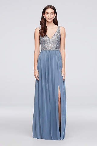 Rose Gold Metallic & Sequin Bridesmaid Dresses | David\'s Bridal