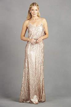 Donna Morgan Long Bridesmaid Dress