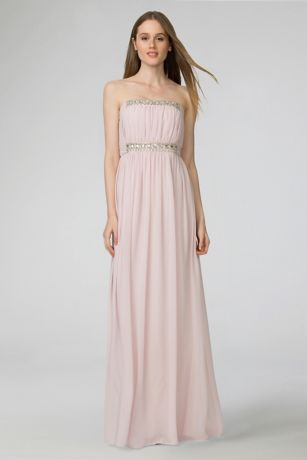 e66b3acb1fcc Soft   Flowy Donna Morgan Long Bridesmaid Dress