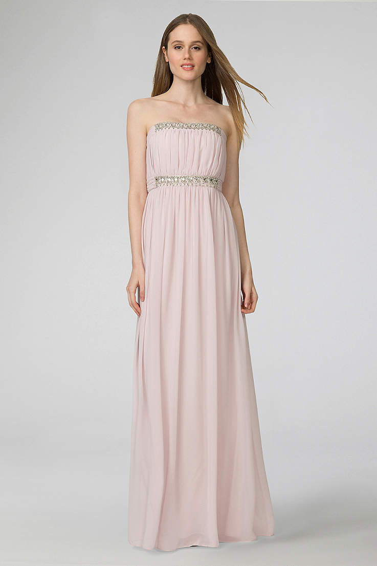 cc5a4e48e66 Soft   Flowy Donna Morgan Long Bridesmaid Dress