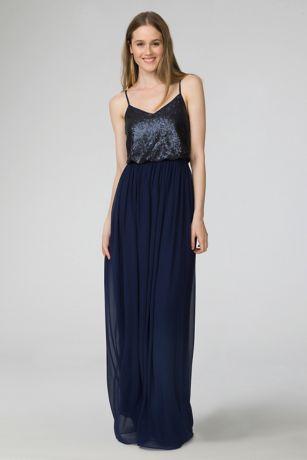 c0564cacb06c Soft   Flowy Structured Donna Morgan Long Bridesmaid Dress
