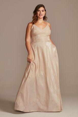 Long Ballgown Spaghetti Strap Dress - Speechless