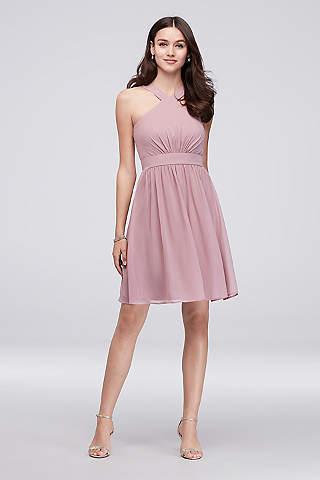 Soft Flowy Reverie Short Bridesmaid Dress