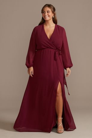 Long A-Line Long Sleeves Dress - DB Studio