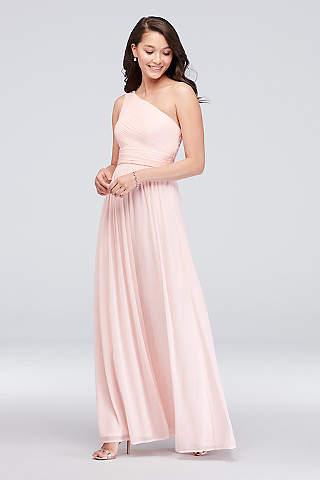 One Shoulder Bridesmaid Dresses Davids Bridal