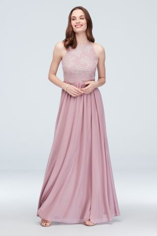Long A-Line Halter Dress - DB Studio