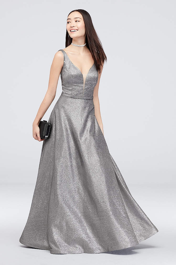 d5192286d5859 Gold, Silver and Metallic Formal and Wedding Guest Dresses | David's ...