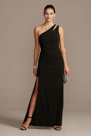 Long Sheath One Shoulder Dress -