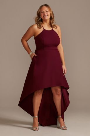 High Low A-Line Halter Dress - DB Studio