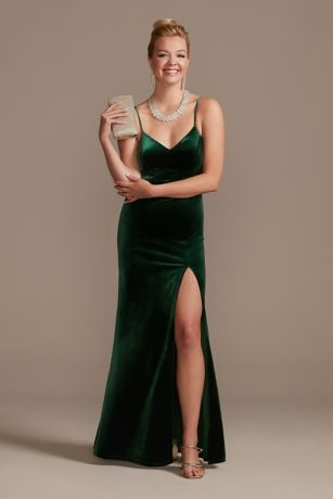 Velvet Dresses Jumpsuits And Formal Gowns David S Bridal