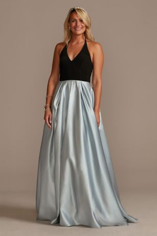 Long Ballgown Spaghetti Strap Dress - Jules and Cleo